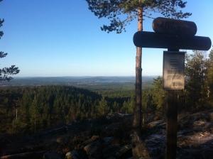 Utsikt från Råberget - Sundborns högsta berg 407möh