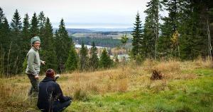 Utsikt från Taberg mot Vättern