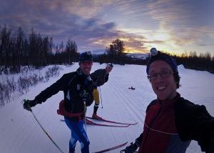 Lyckliga skidåkare. Peter-Oskar-David Foto:David Erixon