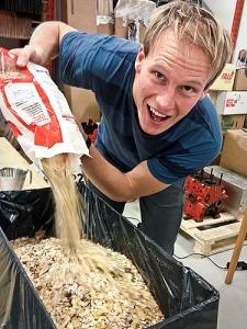 Musli portionsförpackas