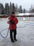 Spolning av is