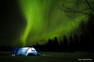 Fjällräven  Akka Endurance i norrsken Foto: David Erixon