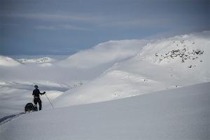 På väg in i dalen Gajlavagge  Foto:David Erixon