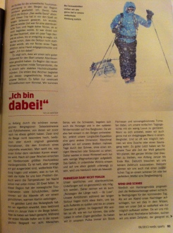 Artikel om Norge på langs - de Luxe publicerad i det tyska magasinet Nordic Sport 2013 nr 6. Text: Niclas Bentzer & David Erixon Foto: David Erixon